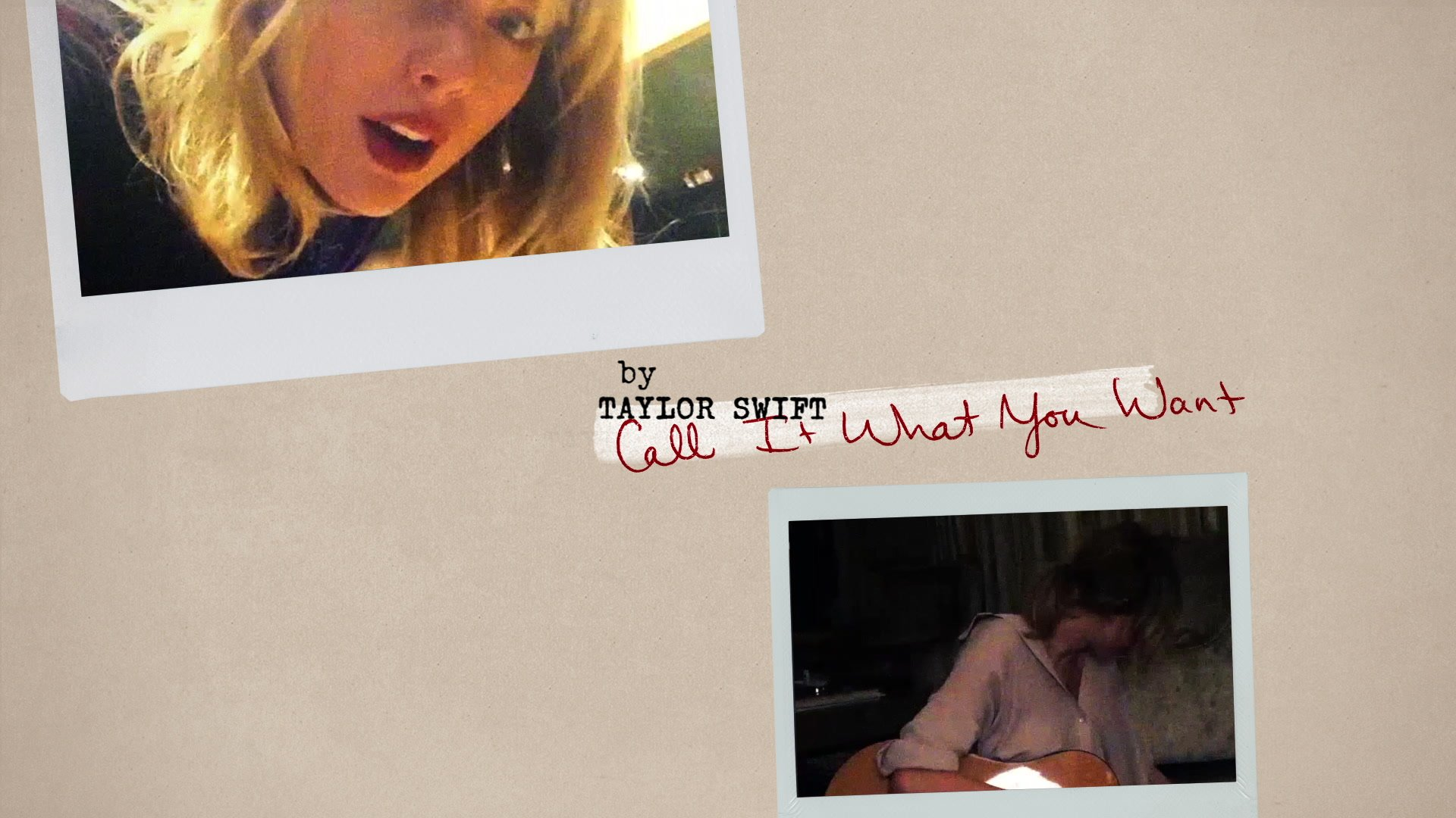 Taylor Swift Call It What You Want Lyric Video Youtube